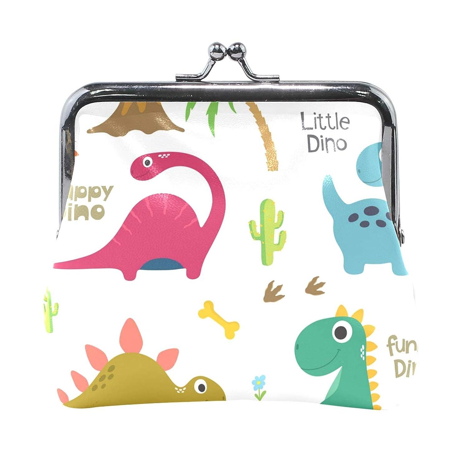 改善特徴ご覧くださいがま口 財布 口金 小銭入れ ポーチ 恐竜 動物 面白い ANNSIN バッグ かわいい 高級レザー レディース プレゼント ほど良いサイズ