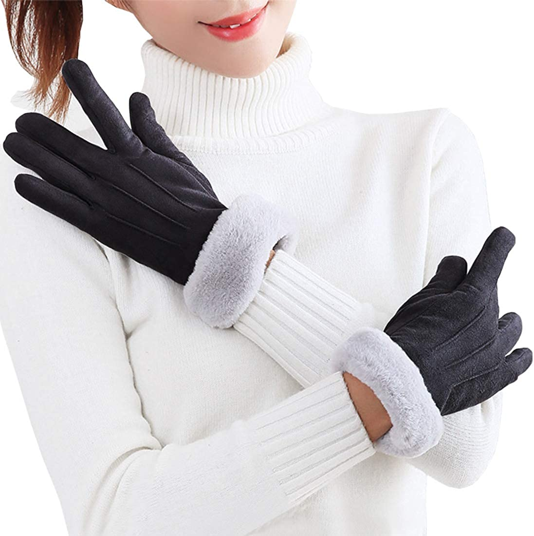 Marte Vanci Women Winter Warm Gloves Touch Screen Gloves Windproof Texting Gloves For Driving Hiking Running Christmas Gifts