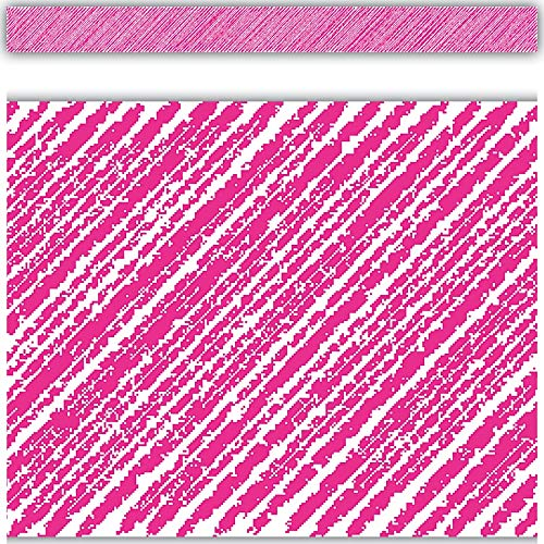 Teacher Created Resources Hot Pink Scribble Straight Border Trim