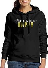 FUOCGH Women's Pullover Pharrell Williams Hooded Sweatshirt Black