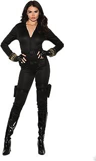 Secret Agent Costume Jumpsuit, Belt, Holsters, Bullet Bracelet, Fingerless Glove