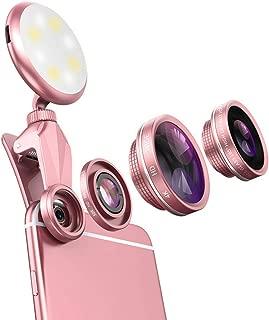 Vanjunn Selfie LED Light Case for iPhone 6 Plus / 6s Plus / 7 Plus / 8 Plus - Selfie Ring Light with Lens for iPhone 6 Plus 7 Plus 8 Plus Cell Phone with 360 Degree LED Rechargeable Ring Light(Lens)
