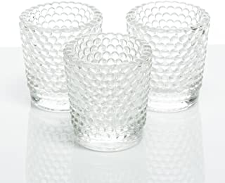 Richland Votive Candle Holders Hobnail Clear Set of 12