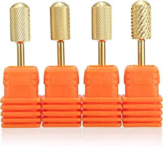 SunTrade 4 pcs Carbide Clean Nail Drill Bit Tool Rotary File Manicure Pedicure 3/32 Shank