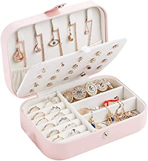 Warreal Women Travel Jewelry Storage Box Multifunctional Simple Storage Case for Rings
