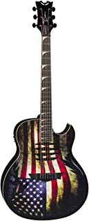 Dean Mako Dave Mustaine Acoustic-Electric Guitar, USA War Torn Flag