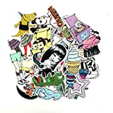 SHUYI Thriller Cartoon Doll Maleta Trolley Maleta Maleta Graffiti Stickers Notebook Dead Fly Stickers 50 Hojas