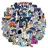 NASA - Pegatinas de vinilo para ordenador portátil, 100 unidades, diseño de galaxia espacial para botella de agua, hidrofrasco, MacBook
