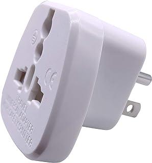 US/CA/JP Type B Adaptor Plug with Flat Blades/Round Grounding Pin and Safety Shutter, UAE/EU/DE/UK/Italy/Swiss/Indian Plug...