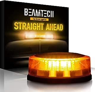 BEAMTECH Warning Strobe Light,24 LED Chips 20W High Intensity Enforcement Emergency Hazard Mini Beacon Lighting Bar with Magnetic Base Amber Yellow