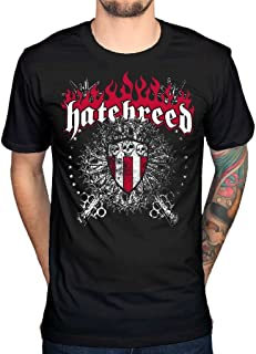 Men's Official Hatebreed T-Shirt Skull And Maces Metalcore Band Rock