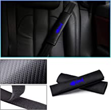 Longzhimei for NISSAN X-Trail 350Z Juke Qashqai Leaf Navara Seat Belt Cover Carbon Fiber Texture Car Safety Seat Belt Pads Shoulder Strap Cover with Reflective Sticker 2pcs