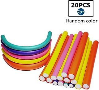 20 Pcs Flexible Hair Curler Rollers Curling Rods,9.4 Twist Hair Curlers Set