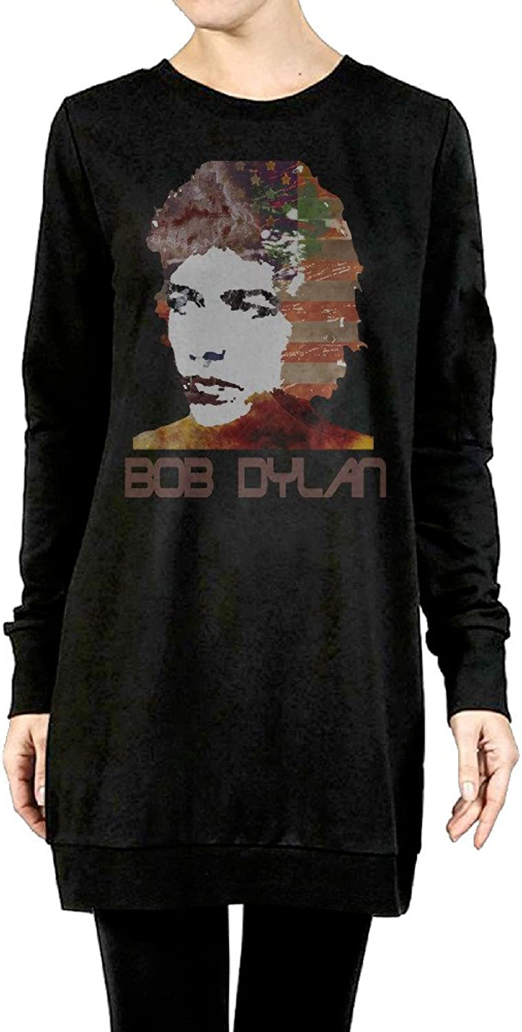 Bob Dylan Women's Long Fleece Sweatshirt Black
