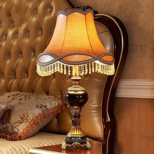 Bonne chose lampe de table Lampe de table américaine Retro Garden Study Lampe de chevet de chambre à coucher européenne Lampe de salon de luxe simple de luxe