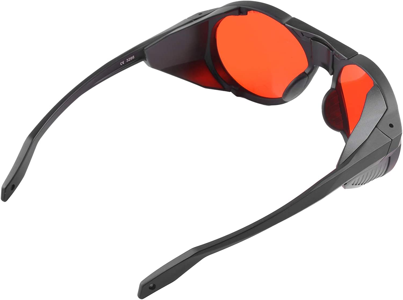 Gafas de seguridad láser, gafas protectoras Protección anti-verde Material de PC de alta calidad con tela para gafas para bloque UV Azul, rojo