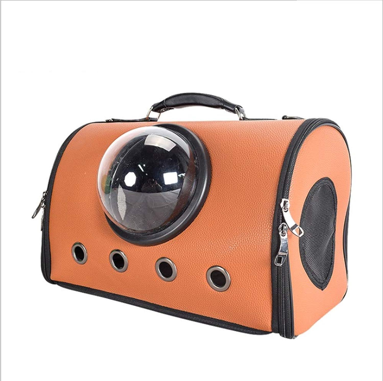 Pet Supplies Pet Nest Portable Kennel Collapsible Pet Bag Out Backpack Travel Carrier Bag (color   Khaki)