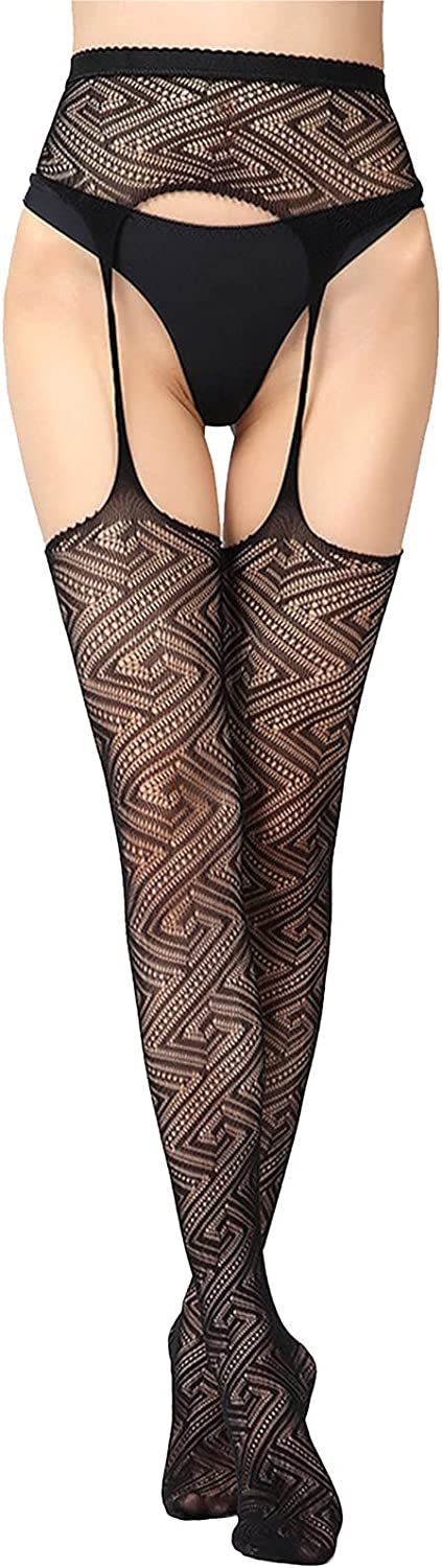 iOPQO Sexy Fishnet Stockings,Suspender Pantyhose Stockings,Fishnet Tights Stretchy High Stockings