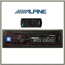 Alpine CDE-150E CD Car Receiver with Front USB & 3.5mm AUX & MP3/Wma/Radio Remote Controller