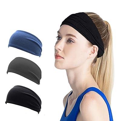 SIYWINA Sport Headband for Men and Women Elasti...