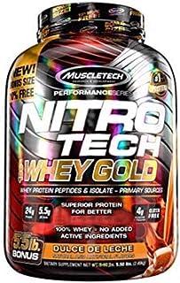 Proteina Nitro Tech Whey Gold, Sabor Dulce de Leche 5.5lbs