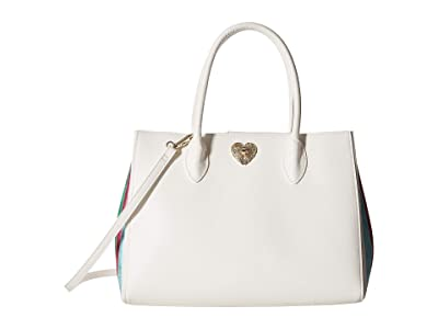 Betsey Johnson Ms. Bright Side Shopper (White) Tote Handbags