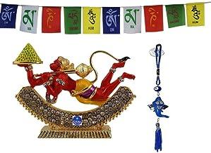 Creativegifts Flying Hanuman Car Idol for Car Dashboard Pooja Office Ganesha Hanging Combo Offer