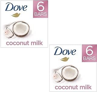 Moisturizing Than Coconut Soap Bars, Coconut Milk Beauty Bar 4 oz, 6 Bar (2 Pack)