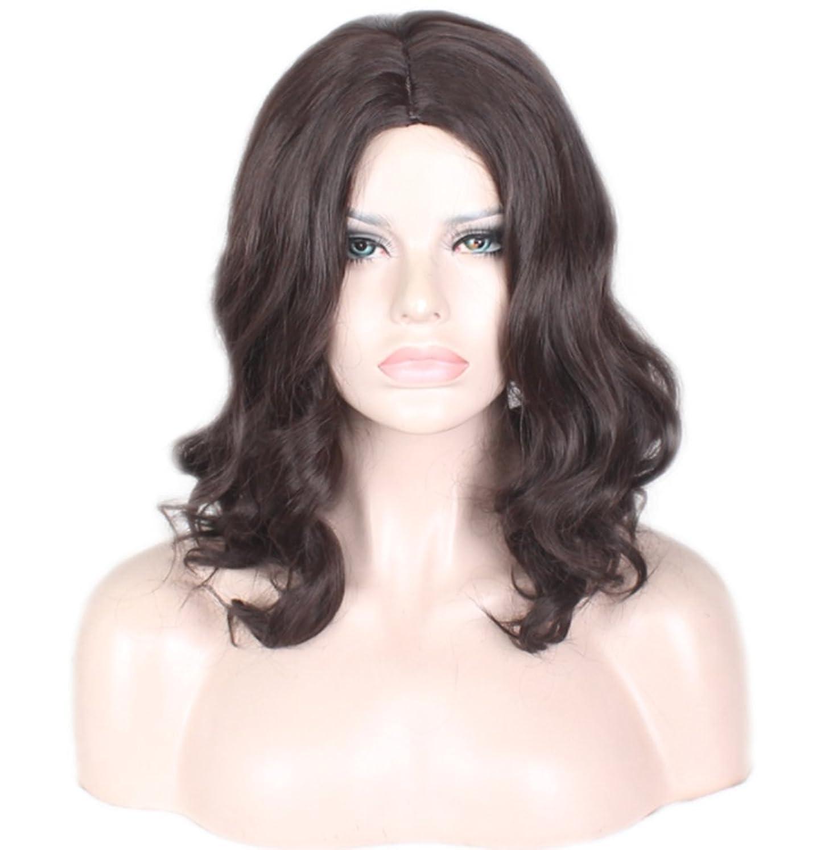 頭蓋骨石嫉妬かつら女性用高品質チーロングカーリーファイバーウィッグ日常用パーティー誕生日ファンシードレスカーニバルヘアピース