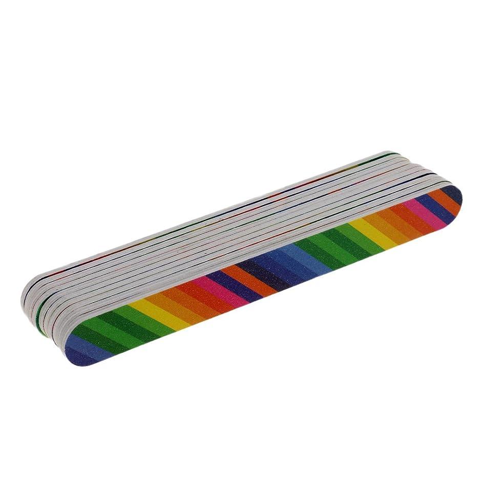 セーター底画家Homyl 10個 ネイルアートチップ 両面ファイル ネイル道具 ネイルケア 爪やすり プロ サロン ネイルトリートメント マニキュア