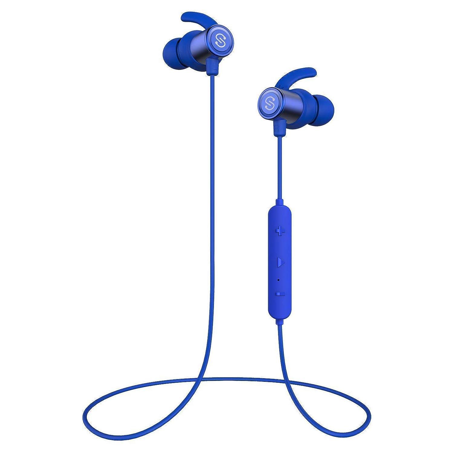 言語アライアンス調整【IPX7完全防水 防汗進化】SoundPEATS(サウンドピーツ) Q30Plus Bluetooth イヤホン 高音質 低音重視 8時間連続再生 apt-Xコーデック採用 人間工学設計 マグネット搭載 CVC6.0ノイズキャンセリング マイク付き ハンズフリー通話 ブルートゥース イヤホン ワイヤレス イヤホン Bluetooth ヘッドホン[メーカー1年保証] ブルー