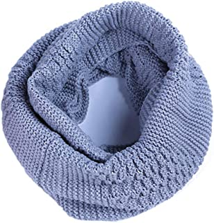 No.66 Town Women's Men's Solid Thick Warm Ultra Soft Winter Round Infinity Scarf
