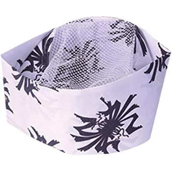 Bamboo Japanese Sushi Bar Chef Hat Breathable Mesh Top Kitchen Uniform Cap Cooking Hat