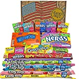 Heavenly Sweets Dulces Nerds Cesta Caramelos - Selection Americana con Surtido Nerds Rainbow, Mini, Laffy Taffy - Regalo Cumpleaños, Navidad, Día de San Valentín, Pascua - Pack de 28x19x4cm