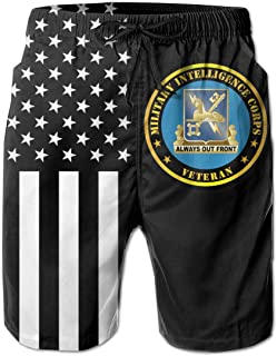 DDG-56 USS John S McCain Mens Beach Shorts Swim Trunks Swimsuit Athletic Shorts