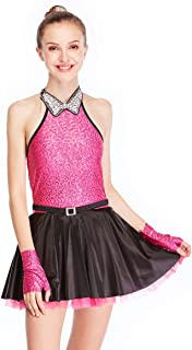 Lyrical Dress Dance Costume Peaked Collar Sequined Tank Top CC2885