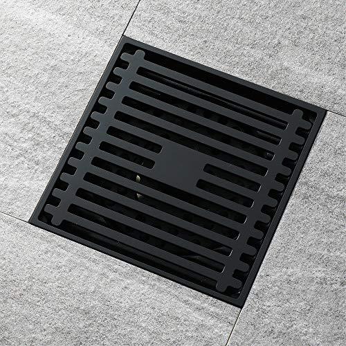PIJN Bodenablauf Schwarz Badezimmer Deodorant Insect Repellent Badezimmer Bodenablauf (Color : Metallic, Size : 100x100x45mm)