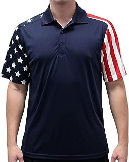 Men's Stars & Stripes Polo T-Shirt