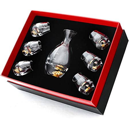 Final Touch 5 Piece Frosted Sake Decanter Set