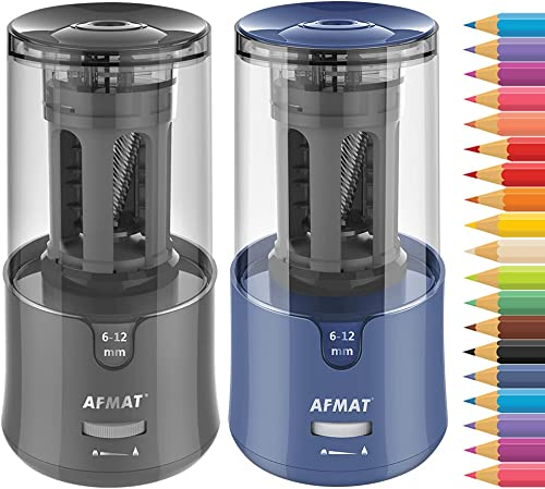 lowest Auto lowest Stop Electric Pencil Sharpener(2 Pack: Gray and 2021 Blue) online sale