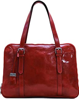 Floto Salerno Women's Leather Business Shoulder Bag Briefcase Messenger Bag