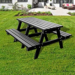 No Butts Recycled Plastic Large Picnic Bench
