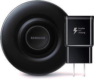 Samsung Cargador inalámbrico con certificado Qi con ventilador de refrigeración para teléfonos Galaxy, relojes y dispositivos iPhone (edición 2019) – Embalaje no minorista – negro