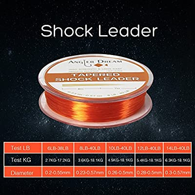 AnglerDream Tapered Shock Leader Fishing Lines NylonSaltwater Fishing Leader Line for Sea Offshore Fishing. from AnglerDream