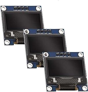 AZDelivery 3 x 0.96 inch OLED 128 x 64 pixels I2C SSD1306 Display compatibel met Arduino en Raspberry Pi Inclusief E-Book!