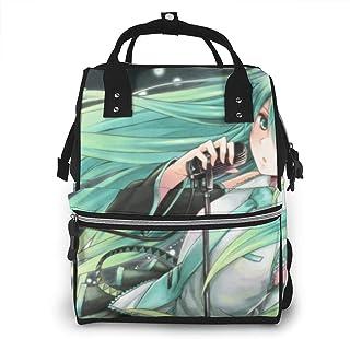 Diaper Bag Backpack - Hatsune Miku Multifunction Waterproof Travel Backpack Maternity Baby Nappy Changing Bags