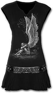 Spiral Direct Enslaved Angel-Stud Waist Mini Dress Black Vestito Donna