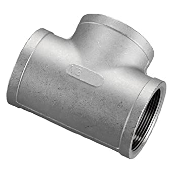 """Qty 6 316 Stainless Steel 1//4/"""" FNPT Tee FNPT Thread Fitting Schedule Class 150"""