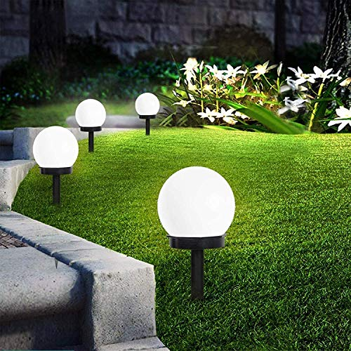 INCX Solar Lights Outdoor, 8 Pack LED Solar Globe Powered Garden Light Waterproof for Yard Patio Walkway Landscape In-Ground Spike Pathway Cold White