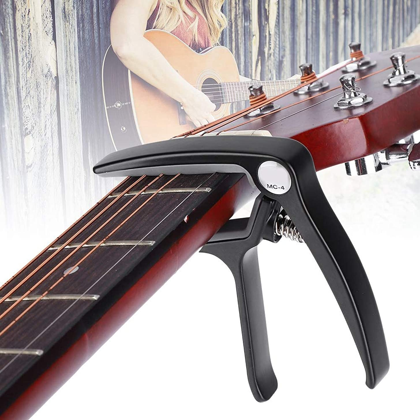 Naroote Portable Guitar Capo, Metal Classical Guitars Accessory Music Instrument Tuner Acoustic Capos